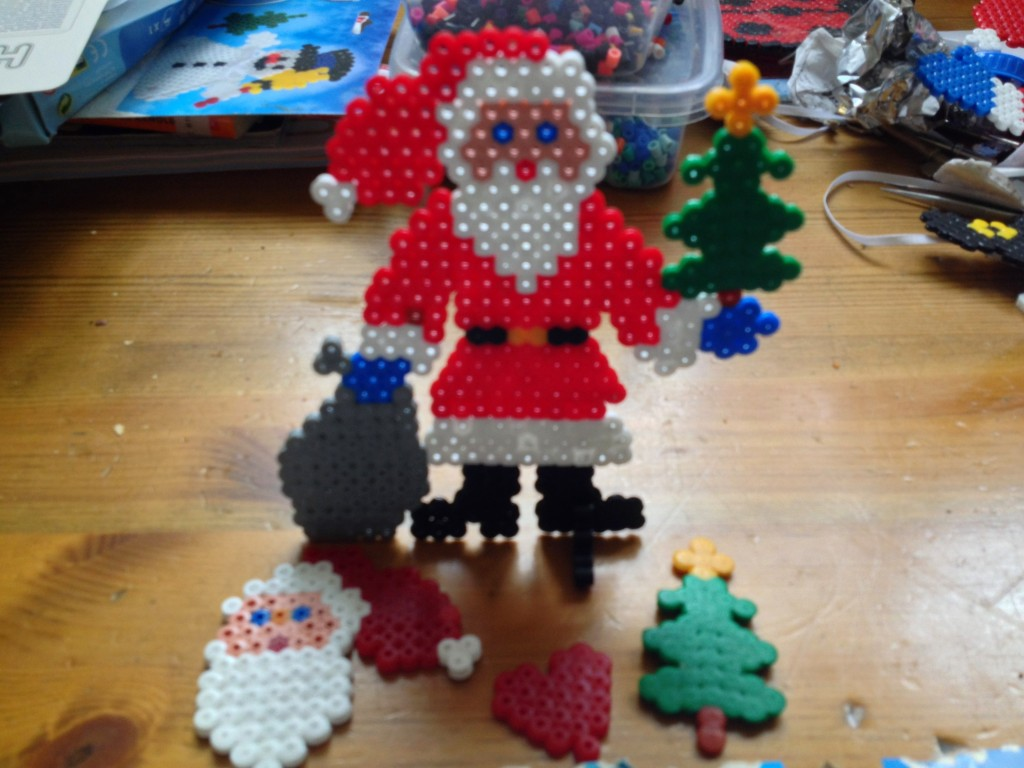 Hama Bead (Perler/melty) Father Christmas kit