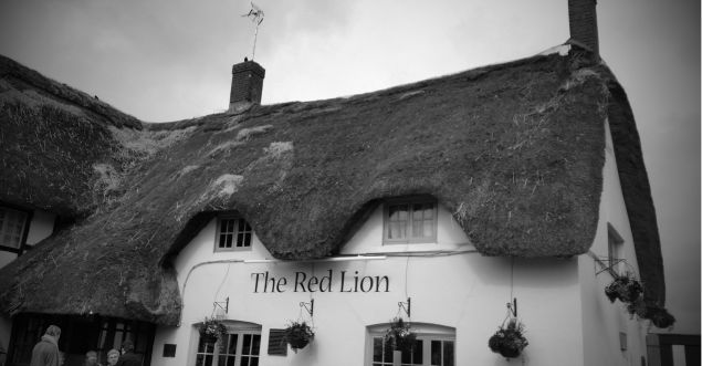 The Red Lion is the only inn in the world that is located inside a prehistoric stone circle.  Avebury dates from between 4000 and 2400BC, and is made up of three stone circles.