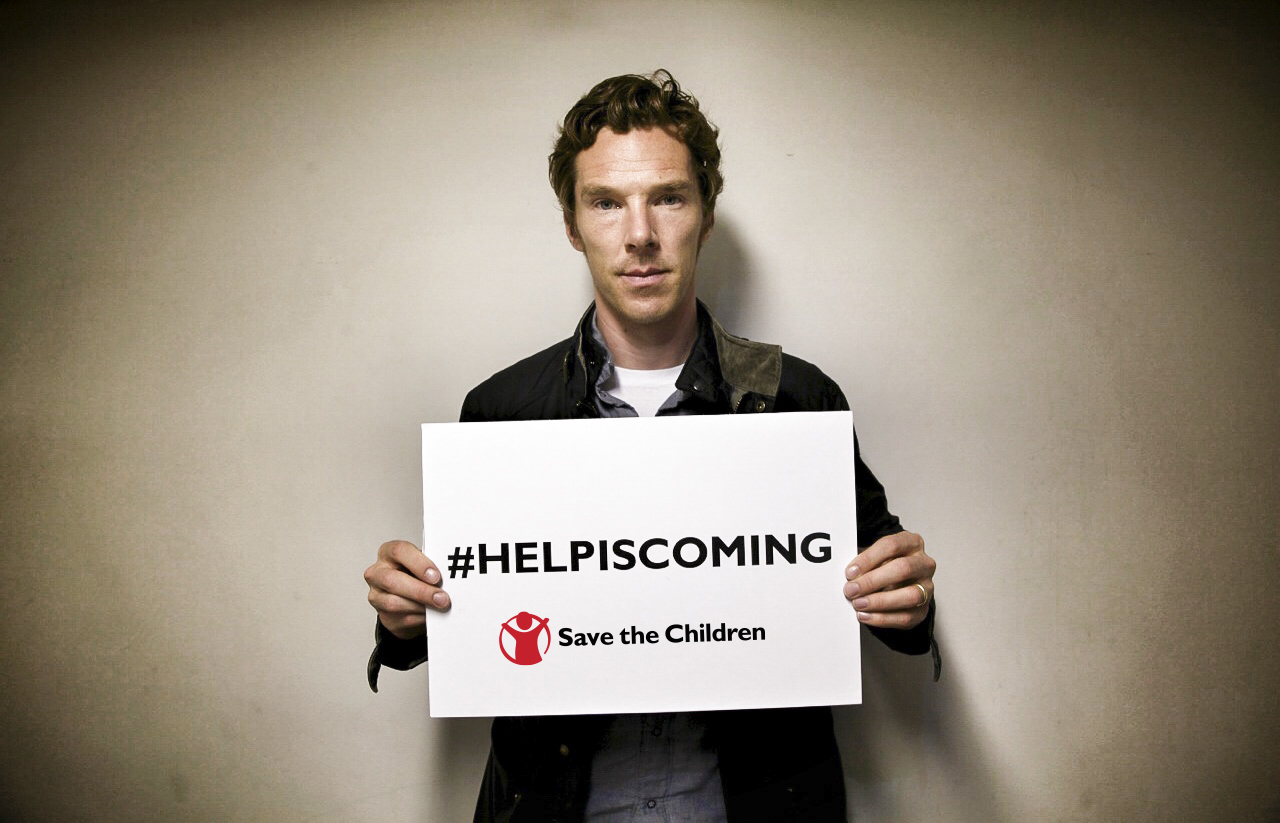 Save The Children Help Is Coming Benedict Cumberbatch