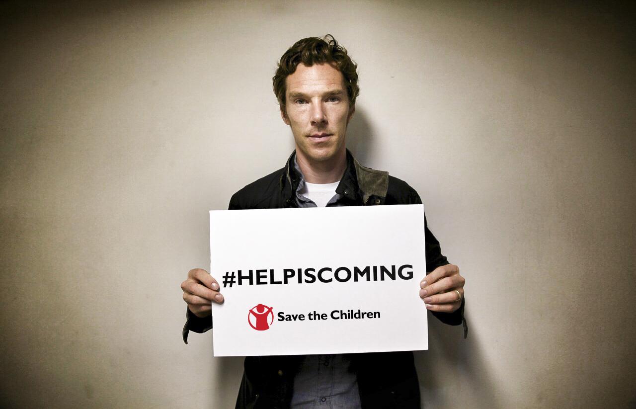 Save The Children Help Is Coming Benedict Cumberbatch