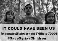 #SaveSyriasChildren To donate £5 please text SYRIA to 70008