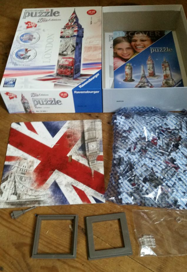 Big Ben- London Ravensburger 3D puzzle Flag Edition