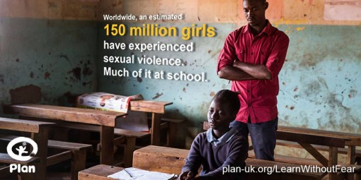 #learnwithoutfear Plan U.K World's biggest girls' campaign targets school violence