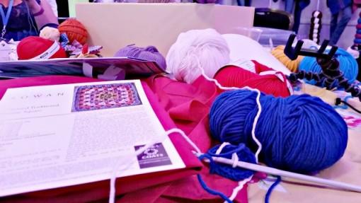 Giant granny square crochet blanket