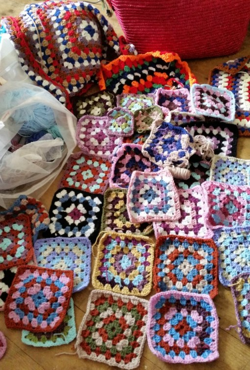 granny square Crochet blanket for hospice patients