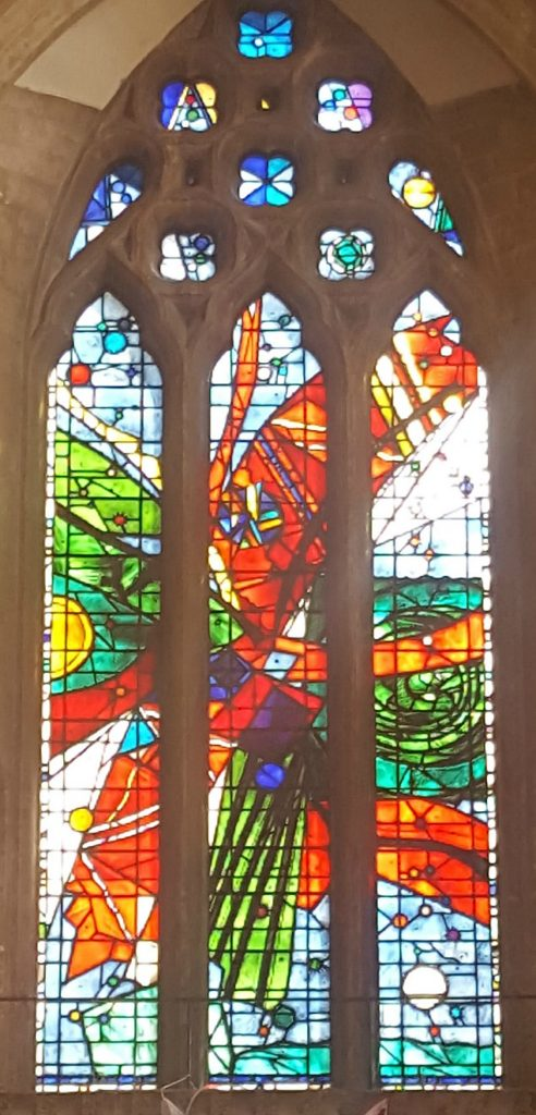 Bristol Cathedral 1960's restored stain glass window